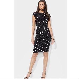 Ralph Lauren Boatneck Polka Dot Dress - Size 6